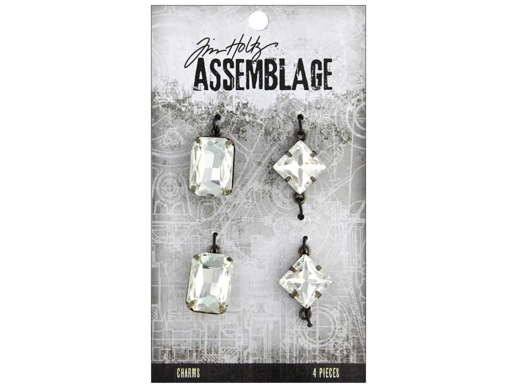Tim Holtz Assemblage Charms Faceted Gems