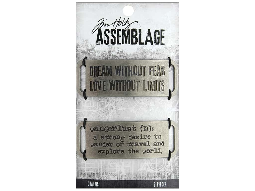 Tim Holtz Assemblage Charms Metal Bands