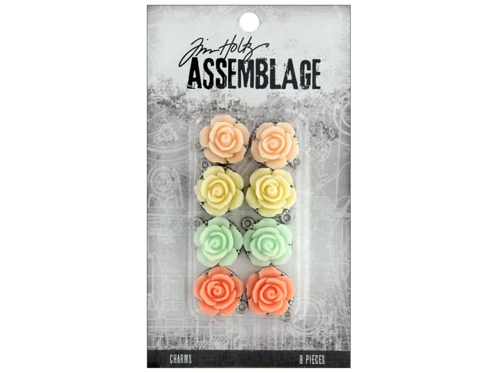 Tim Holtz Assemblage Charms Roses