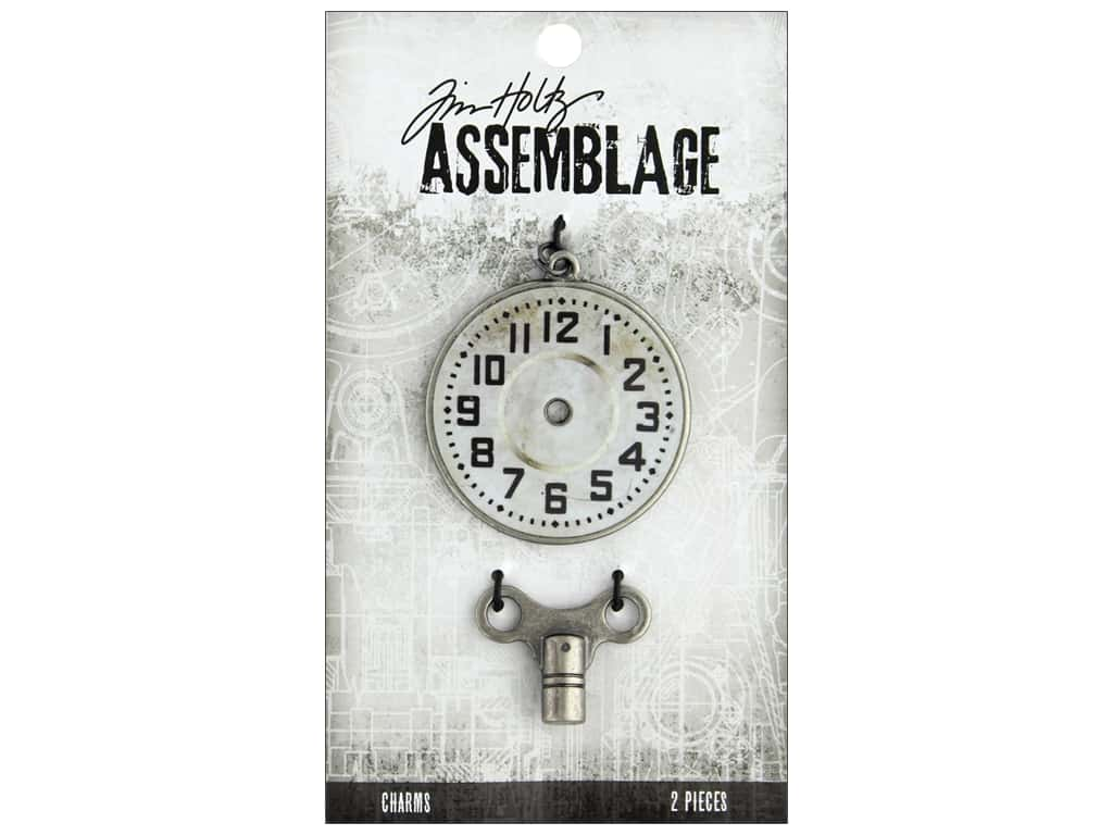 Tim Holtz Assemblage Charms Timepiece And Clock Key