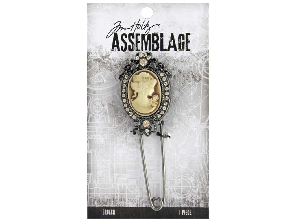 Tim Holtz Assemblage Broach Cameo