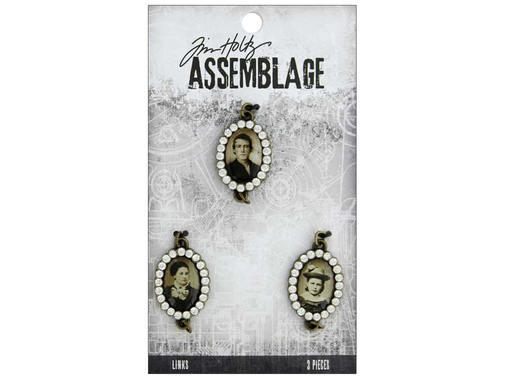 Tim Holtz Assemblage Links Jeweled Photo