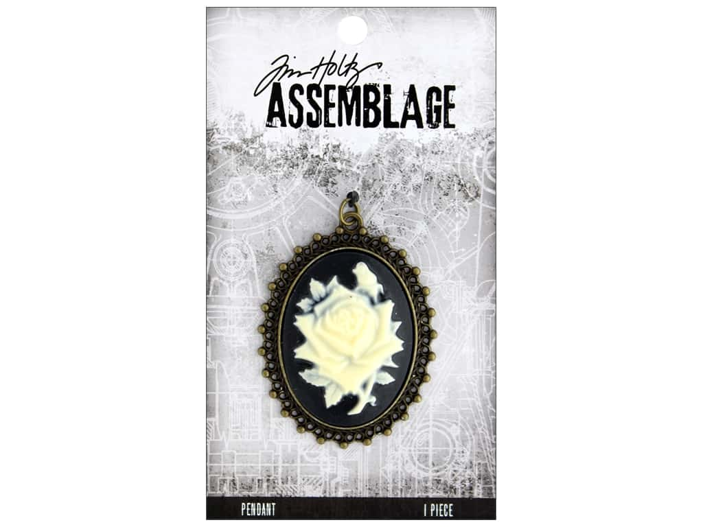 Tim Holtz Assemblage Pendant Cameo Rose