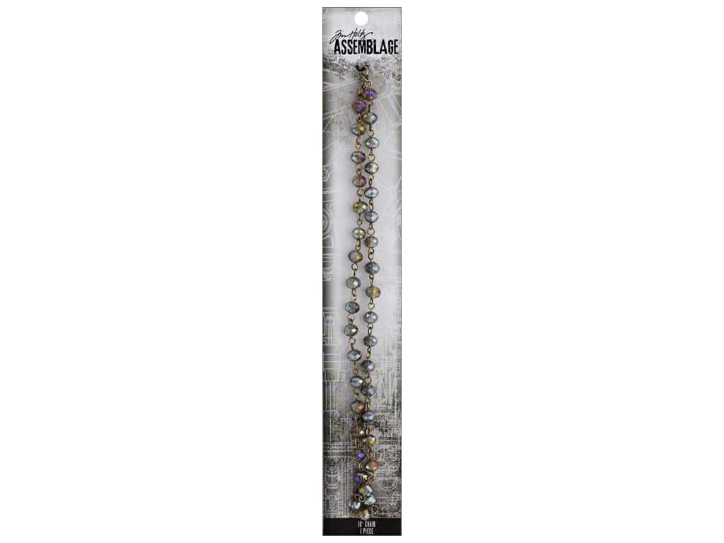 Tim Holtz Assemblage Chain 18 in. Beaded Onyx Iridescent