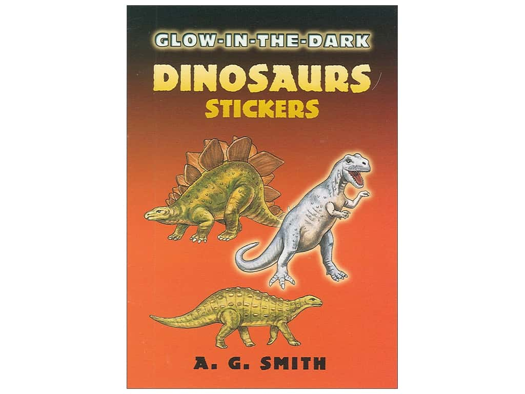 Dover Publications Little Glow In The Dark Dinosaur Sticker Book