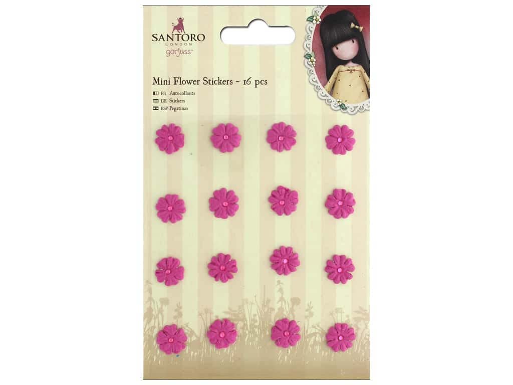 Docrafts Santoro Gorjuss In The Garden Sticker Mini Flower