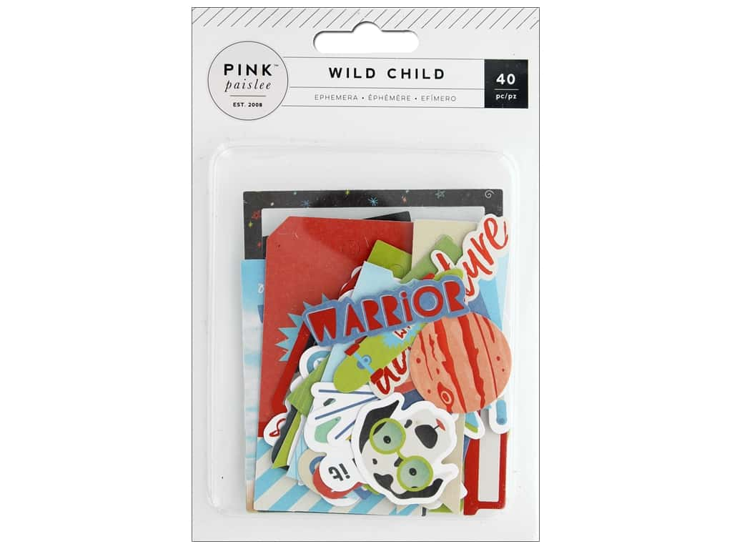 Pink Paislee Collection Wild Child Boy Ephemera