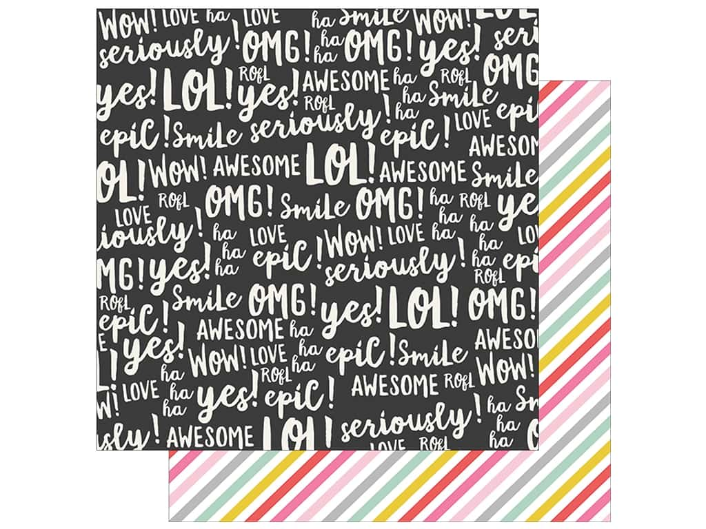 Simple Stories Collection Emoji Love Paper 12 in. x 12 in. Be A Unicorn (25 pieces)