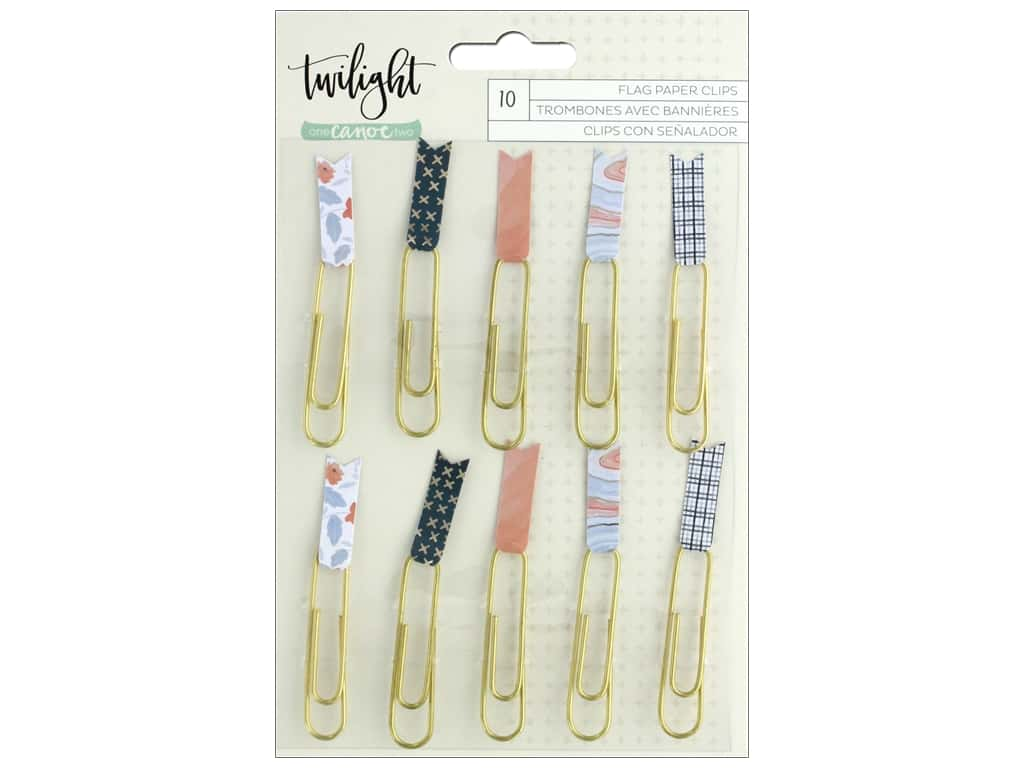 American Crafts Collection One Canoe Two Twilight Paper Clips Flags