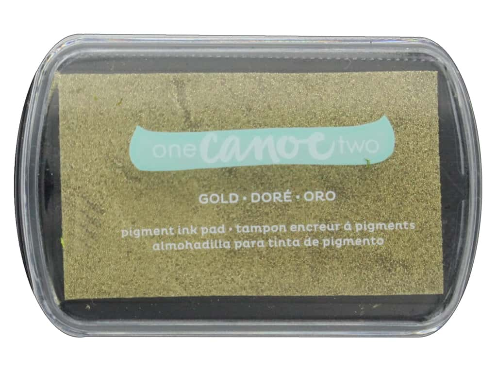 American Crafts Collection One Canoe Two Twilight Ink Pad Metallic Gold
