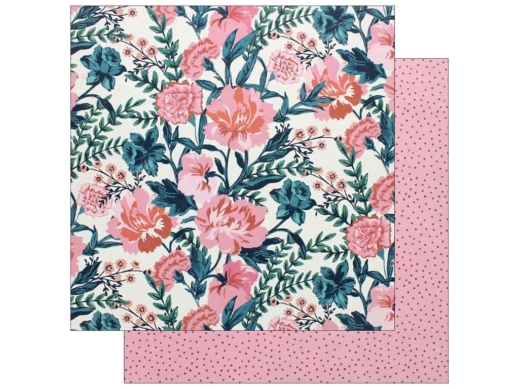 Crate Paper Collection Maggie Holmes Flourish Paper 12 in. x 12 in. Fragrant (25 pieces)