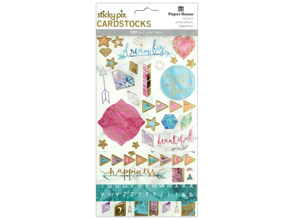 Paper House Sticker Cardstock Marbleous
