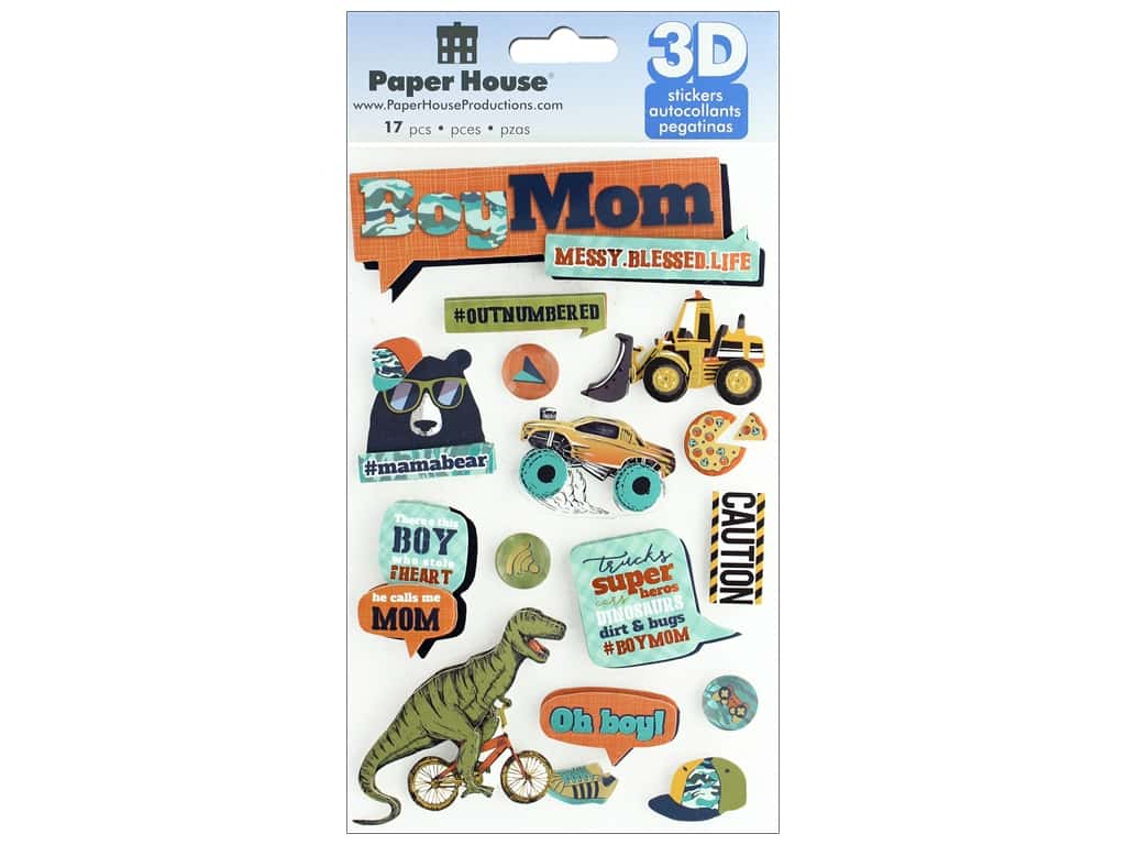 Paper House Sticker 3D Boy Mom