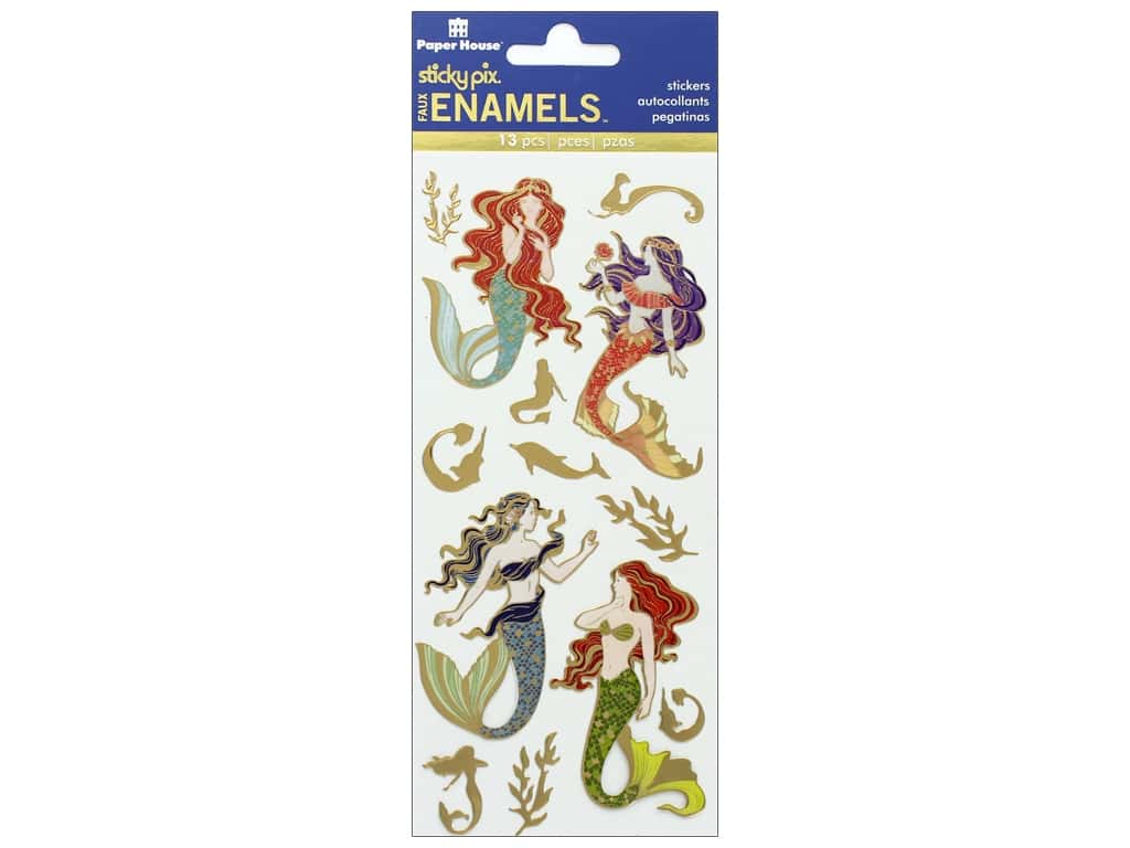 Paper House Sticker Enamel Mystical Mermaids