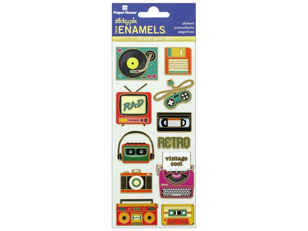Paper House Sticker Enamel Retro Electronics