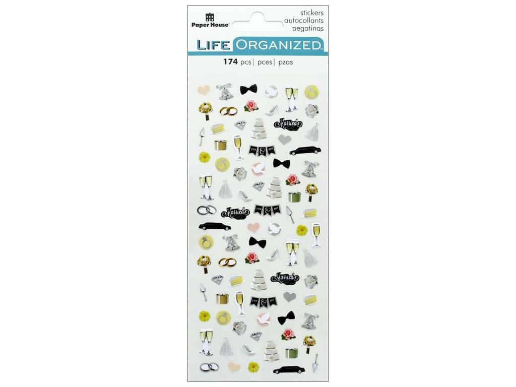 Paper House Collection Life Organized Sticker Micro Wedding