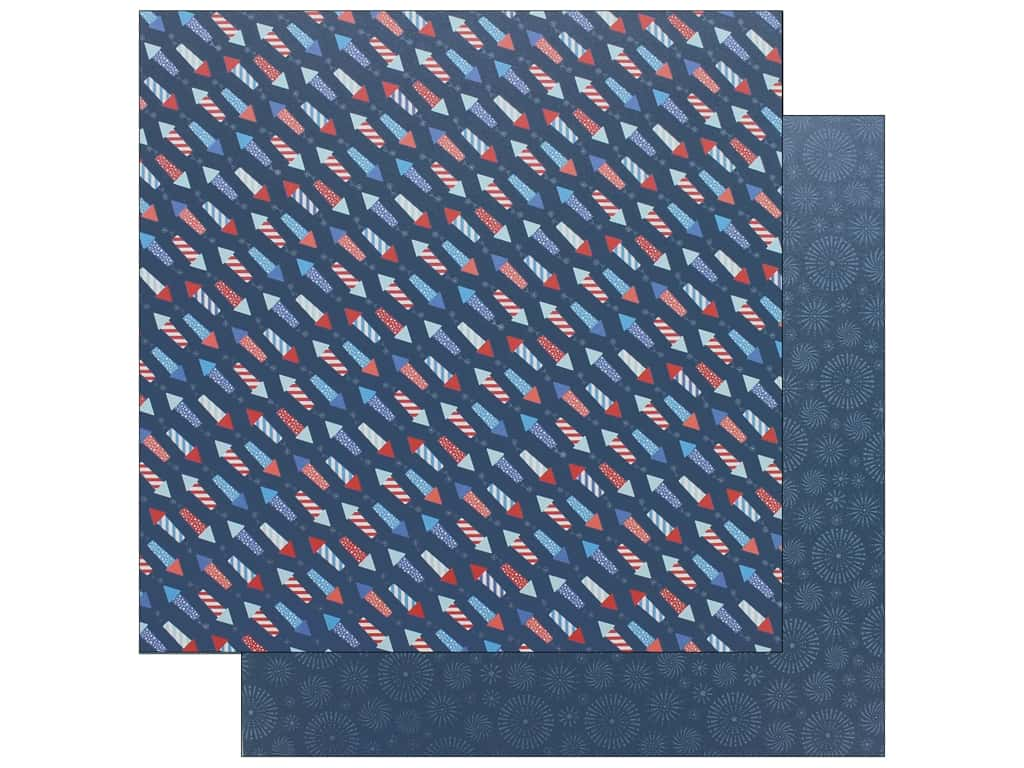 Pebbles Land That I Love Paper 12 in. x 12 in.  Fireworks (25 pieces)