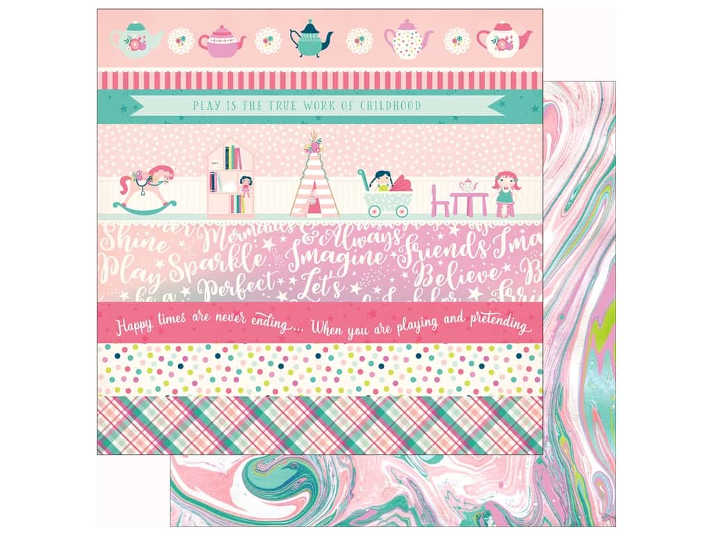 Echo Park Imagine That Girl Paper 12 in. x 12 in. Border Strip (25 pieces)