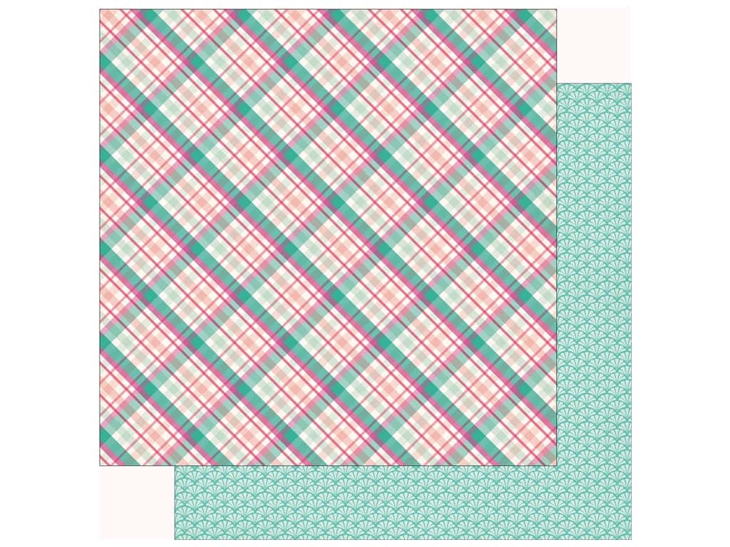 Echo Park Imagine That Girl Paper 12 in. x 12 in. Princess Plaid (25 pieces)