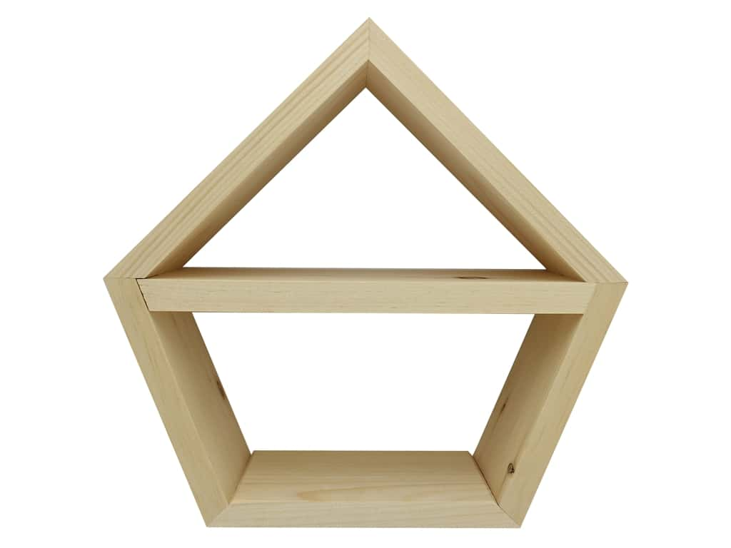 Walnut Hollow Wood Pine Diamond With Shelf 11.5 in. x 11.3 in.