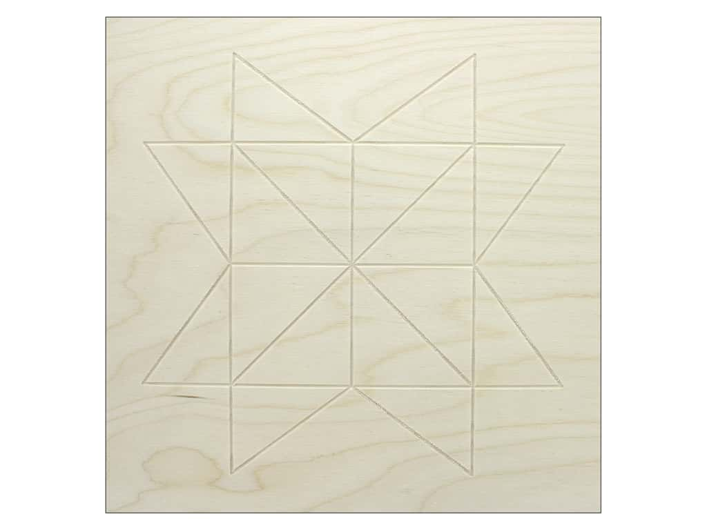 Walnut Hollow Wood Baltic Birch Barn Star 11.38 in. x 11.38 in.