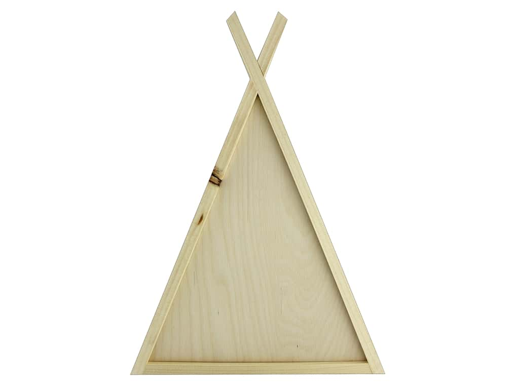 Walnut Hollow Wood Framed Sign TeePee 10.38 in. x 15.24 in.