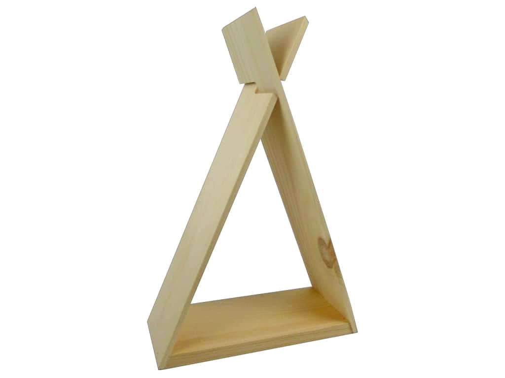 Walnut Hollow Wood Shelf Pine TeePee Small 9.54 in. x 13.86 in.
