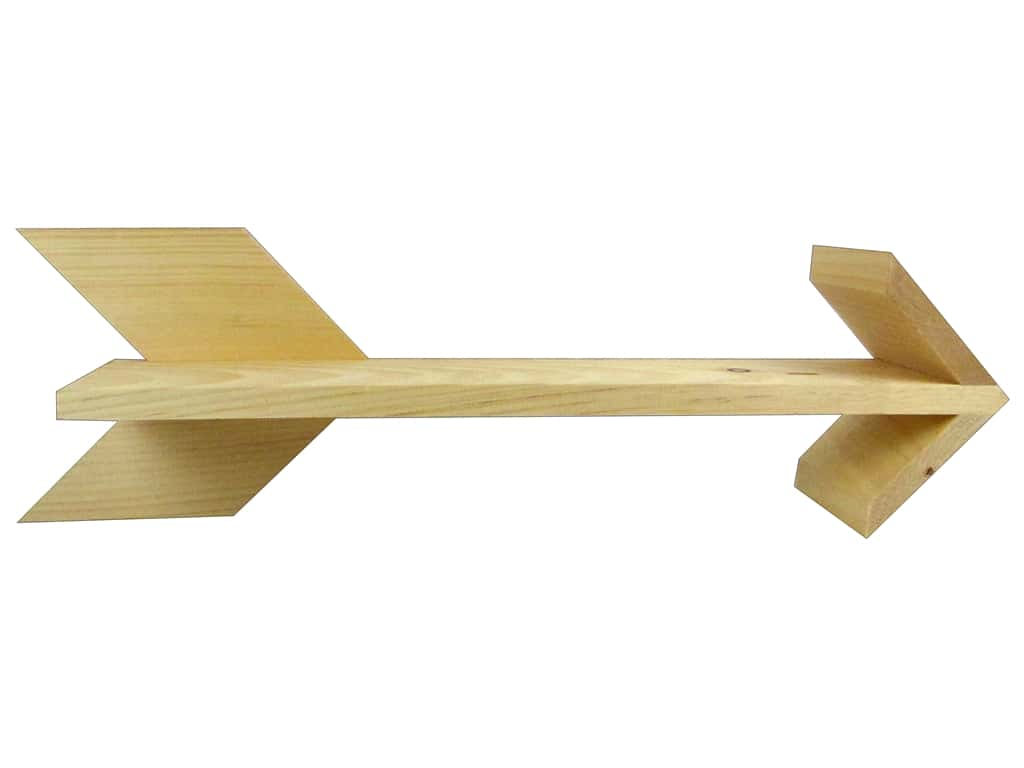 Walnut Hollow Wood Shelf Pine Arrow 22.25 in. x 6.63 in.
