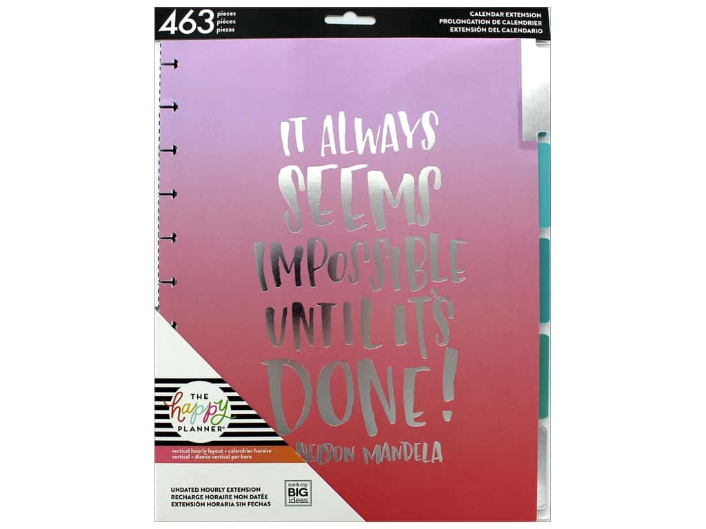 Me&My Big Ideas Collection Create 365 Happy Planner Extensions Big Month Hourly