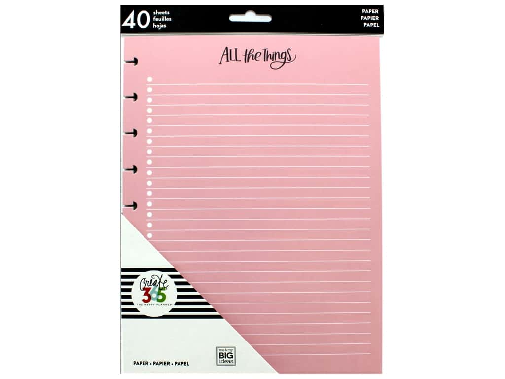 Me&My Big Ideas Collection Create 365 Happy Planner Filler Paper Classic Colored