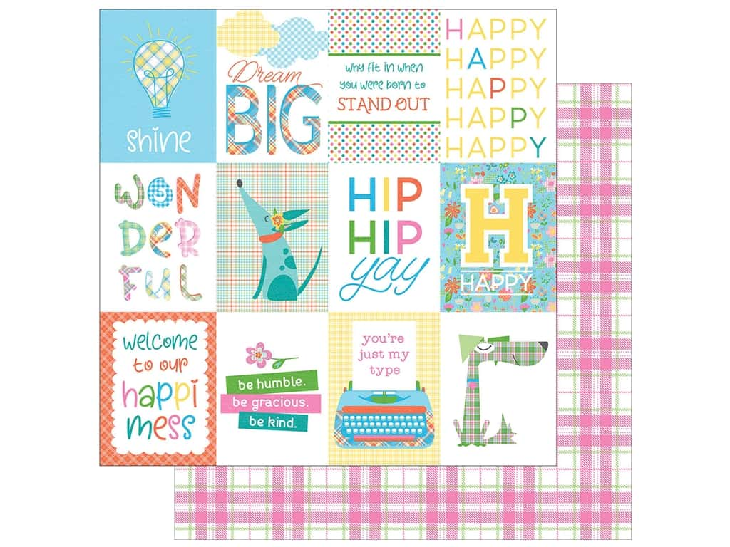 Photo Play 12 x 12 in. Paper Made 4 Plaid Happy Day (25 pieces)