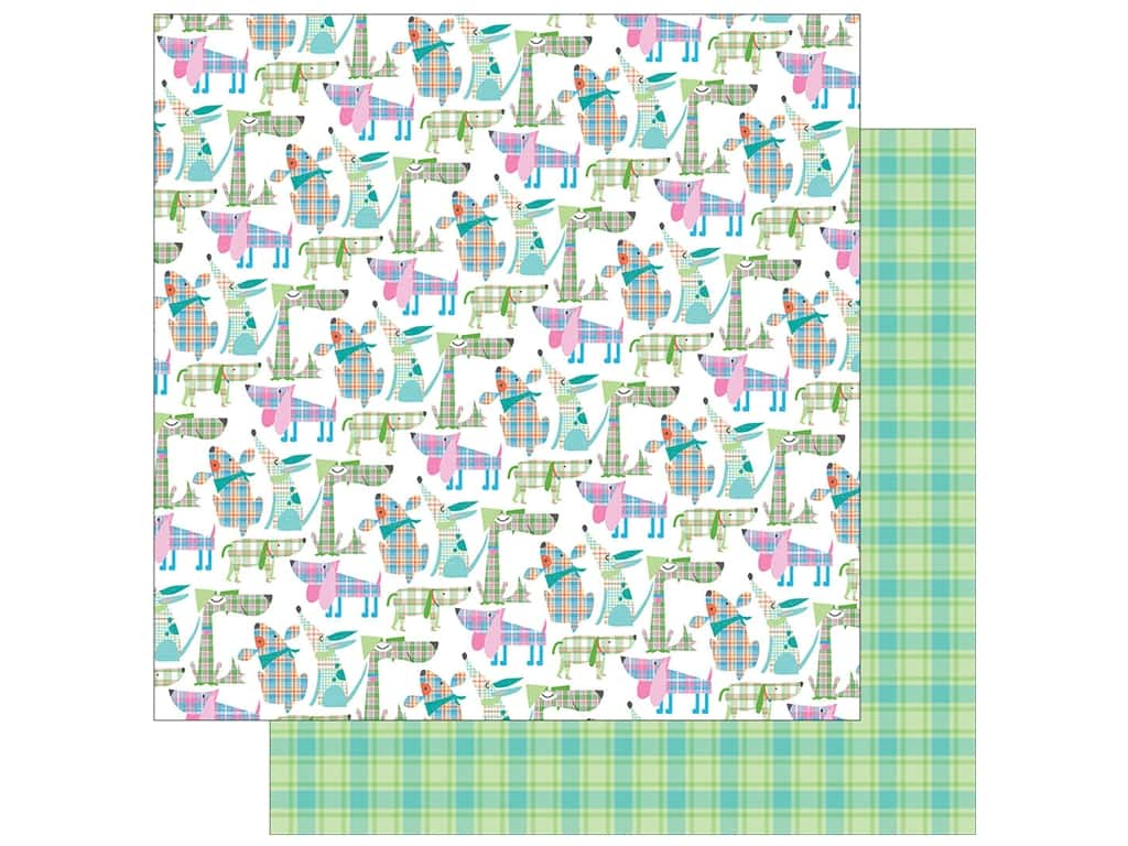 Photo Play Collection  Made 4 Plaid Happy Paper 12 in. x 12 in. Dogs (25 pieces)