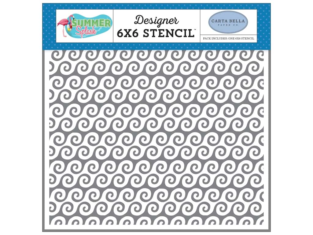 Carta Bella Collection Summer Splash Stencil Beach Waves