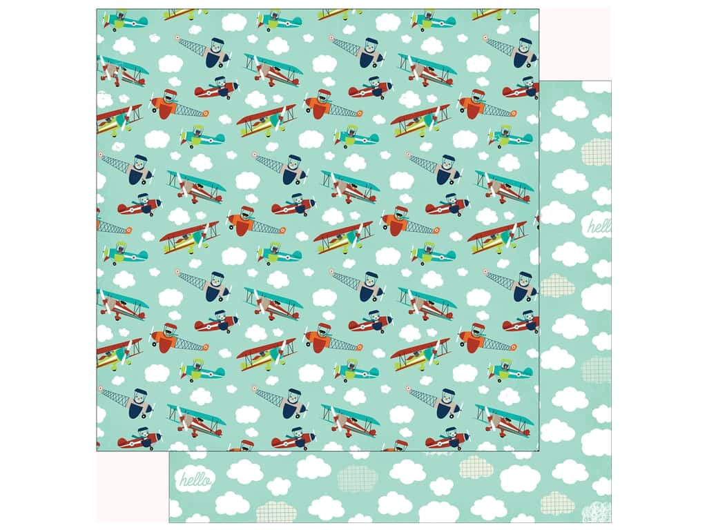 Echo Park Imagine That Boy Paper 12 in. x 12 in. Cloud And Plane (25 pieces)