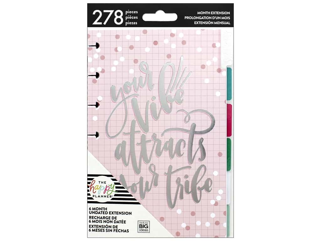 Me&My Big Ideas Collection Create 365 Happy Planner Extensions Mini Month Rainbow