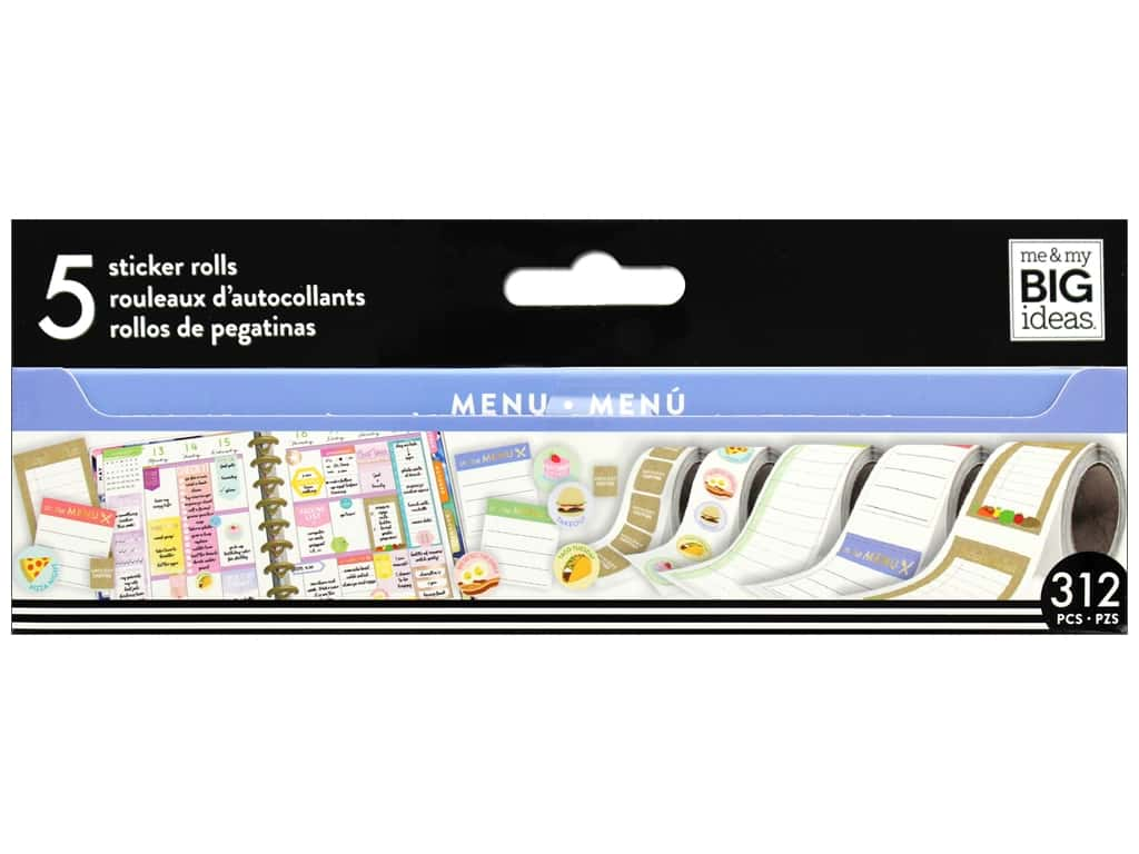 Me&My Big Ideas Collection Create 365 Happy Planner Sticker Roll Food/Menu