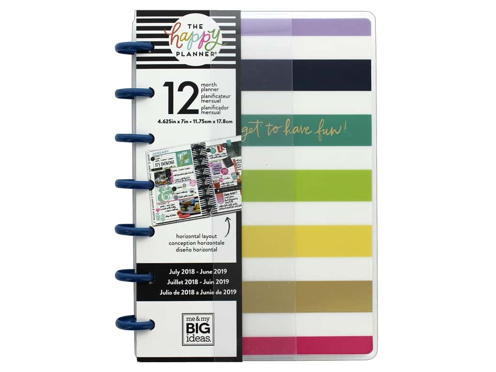 Me&My Big Ideas Collection Create 365 Happy Planner Mini 12 Month Have Fun 2018/2019