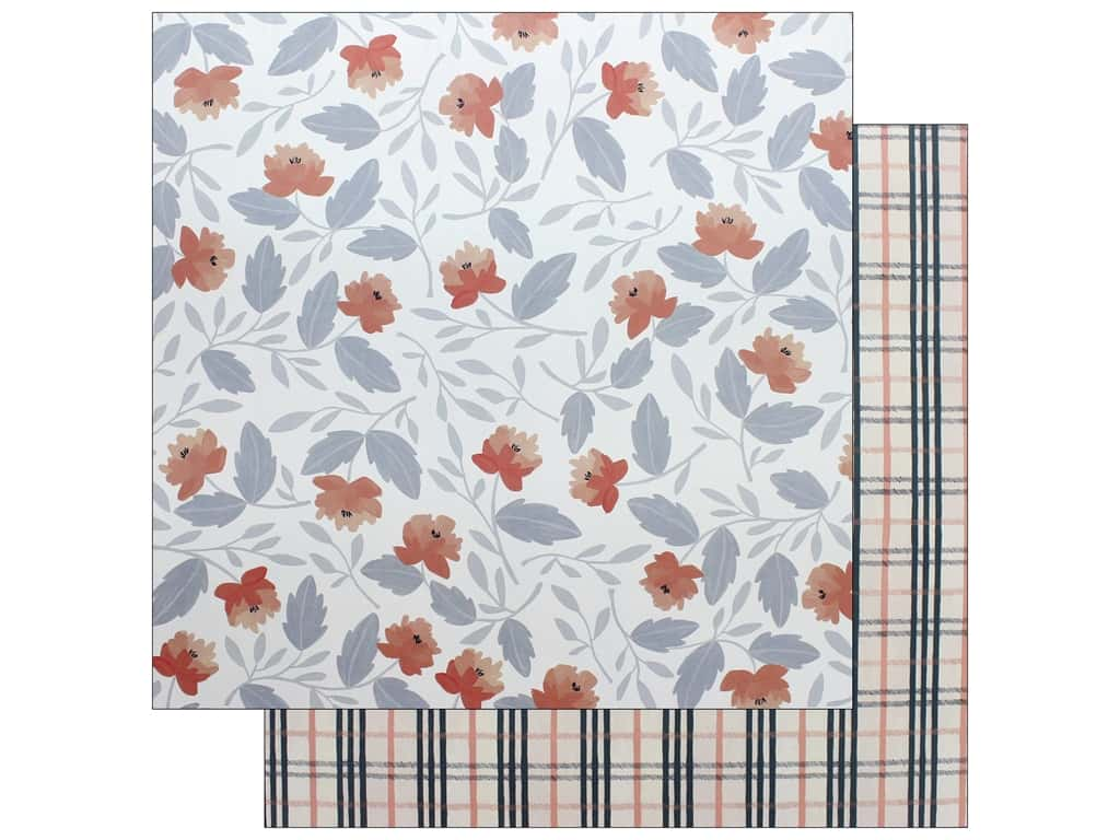 American Crafts One Canoe Two Twilight Paper 12 in. x 12 in. Twilight Blooms (25 pieces)