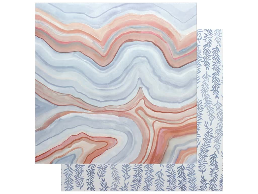American Crafts One Canoe Two Twilight Paper 12 in. x 12 in. Marble (25 pieces)