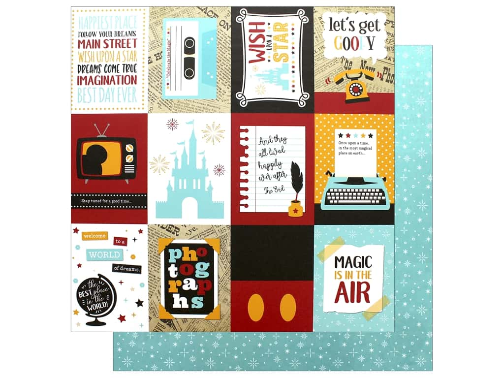 Echo Park Wish Upon A Star Paper 12 in. x 12 in. Journaling Card 3 in. x 4 in. (25 pieces)