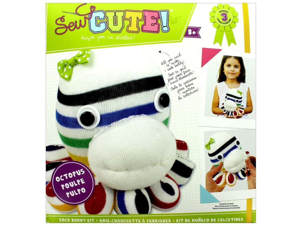 Colorbok Kit Sew Cute Kit Sock Buddy Octopus