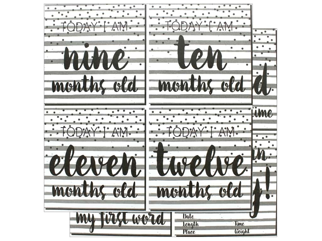 """Reminisce Modern Baby Paper 12""""x 12"""" First Year Too (25 pieces)"""