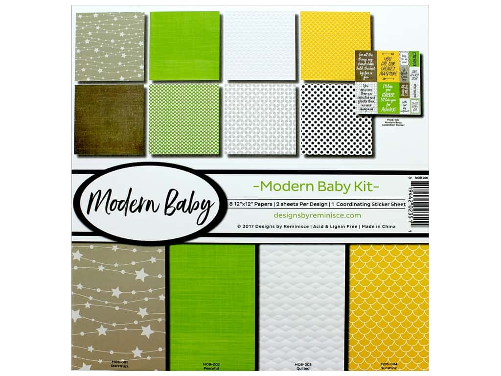 "Reminisce Modern Baby Pack 12""x 12"""