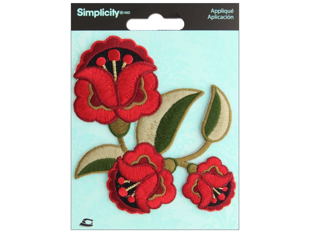 Simplicity Applique Iron On Boho Flower