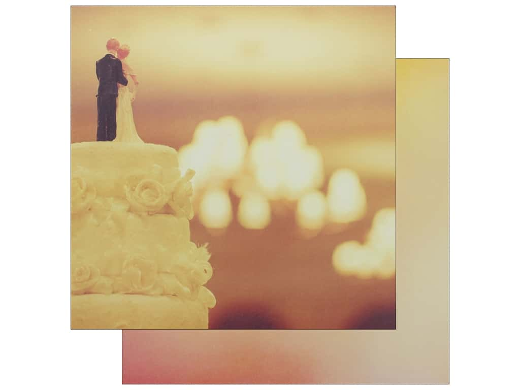 Reminisce Modern Wedding Paper 12 in. x 12 in. Take The Cake (25 pieces)