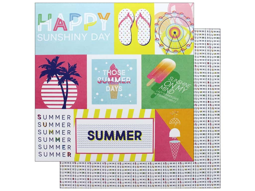 Photo Play 12 x 12 in. Paper Those Summer Days Chill Out (25 pieces)