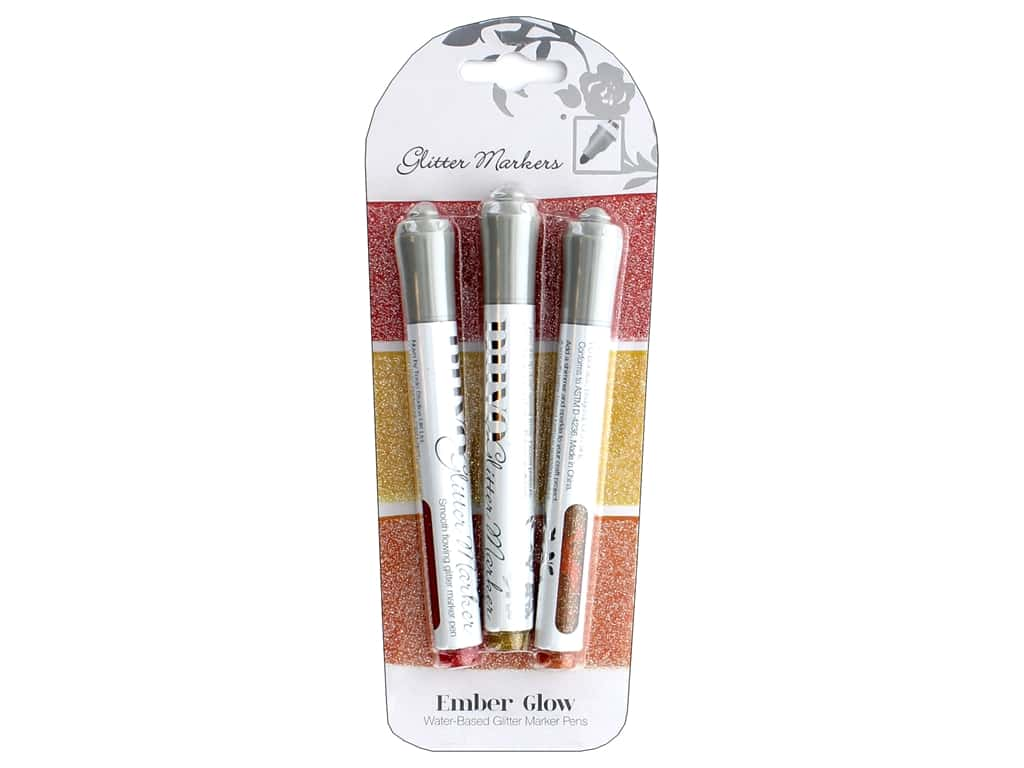 Nuvo Glitter Markers 3 pc. Ember Glow