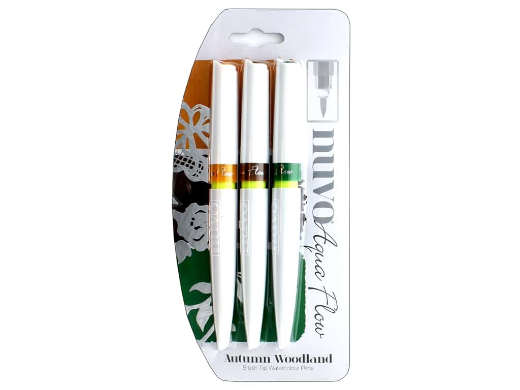Nuvo Aqua Flow Pens 3 pc. Autumn Woodland