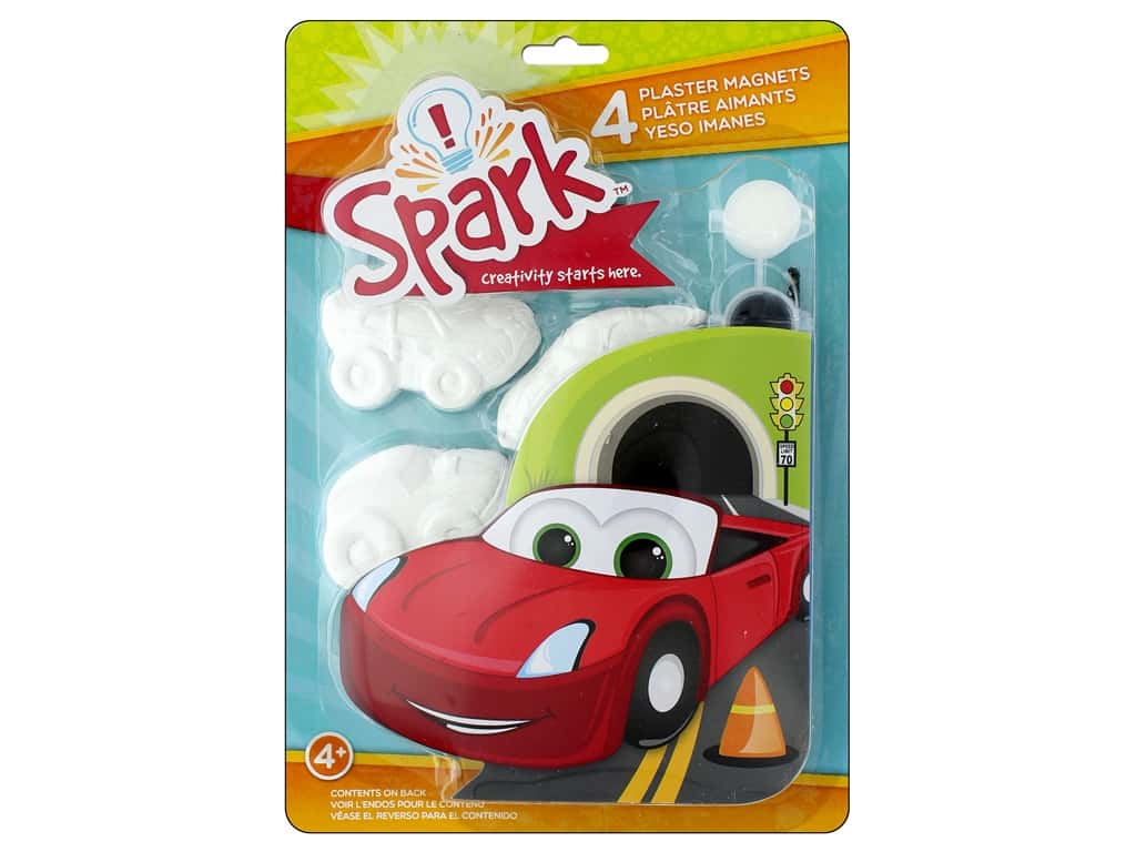 Colorbok Kit Spark Plaster Magnet Cars