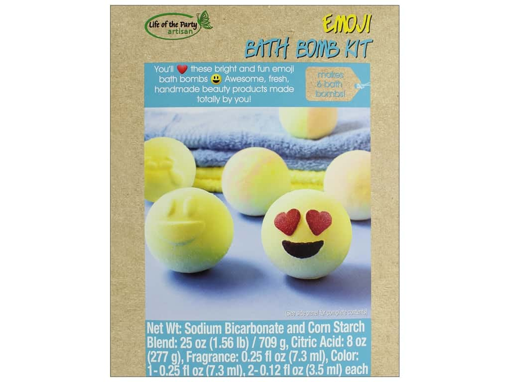 Life Of The Party Emoji Bath Bomb Kit